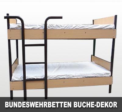 Bundeswehrbetten Buche-Dekor mit Leiter
