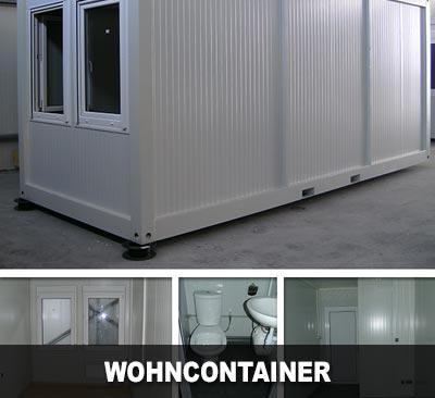 Wohncontainer mit WC und Waschbecken